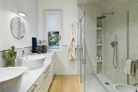 Soffioni della doccia a muro