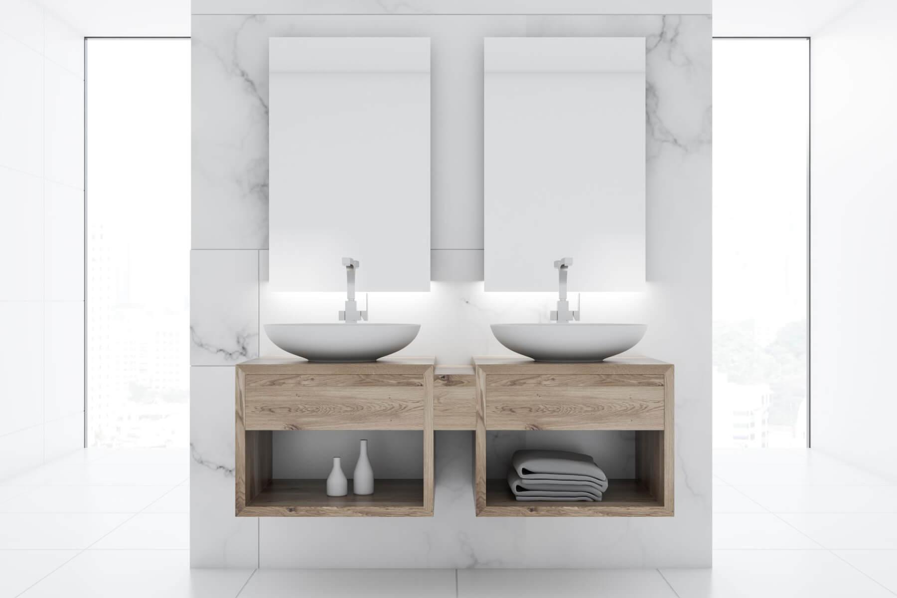 Mobile Bagno Lavandino Incasso consigli per installare un lavabo da bagno doppio - arte bagno