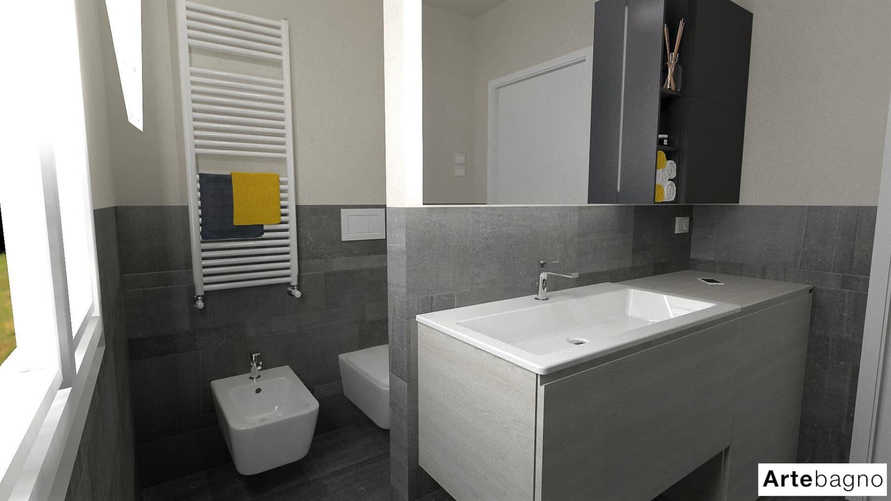 Progetti Di Ristrutturazione Bagno rendering 3d - artebagno