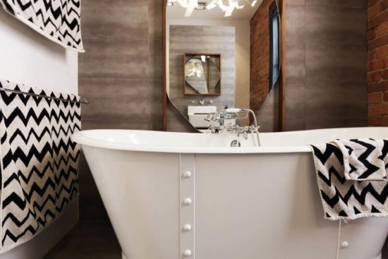 Vasche da bagno moderne per ambienti piccoli stile e comfort - retrò