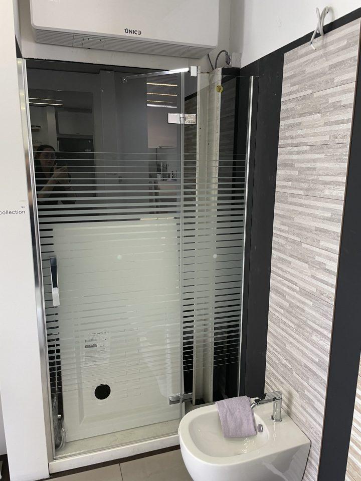 Porta doccia Arblu battente confisso inlinea serie Sei cod. 230